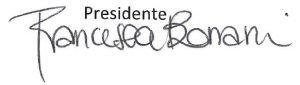 Firma Presidente Cooperativa Viridiana